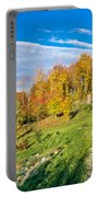 Wooden Lodge In Autumn Mountain Nature Portable Battery Charger