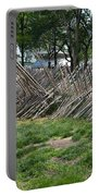 Wooden Spiked Fence Portable Battery Charger