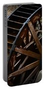 Wooden Water Wheel Portable Battery Charger by Paul Ward