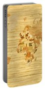 Wooden World Map 2 Portable Battery Charger