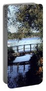 Woodfoot Bridge Of Williams Bay Wi Over Geneva Lake  Portable Battery Charger