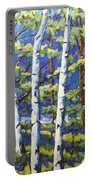Woodland Birches Portable Battery Charger