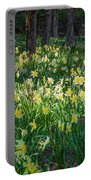 Woodland Daffodils Portable Battery Charger by Bill Wakeley
