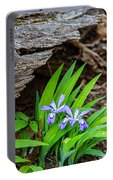 Woodland Dwarf Iris Wildflowers Portable Battery Charger