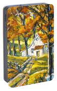 Woodland Sugar Shack By Prankearts Portable Battery Charger