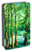 Woodside View Green Portable Battery Charger