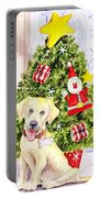 Woof Merry Christmas Portable Battery Charger