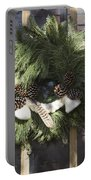 Wool And Feather Wreath Portable Battery Charger