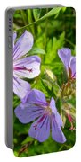 Wooly Geranium In Katmai National Preserve-ak  Portable Battery Charger
