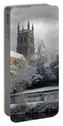 Worcester Cathedral Cloudy Portable Battery Charger