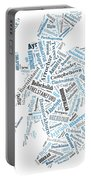 Wordcloud Of Scotland Portable Battery Charger