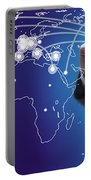 World Economies Map Portable Battery Charger