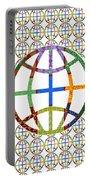 World Globe Earth Travel Graphic Digital Colorful Pattern Signature Art  Navinjoshi Artist Created I Portable Battery Charger