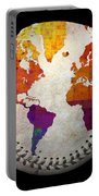 World Map - Rainbow Bliss Baseball Square Portable Battery Charger