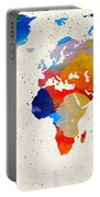 World Map 18 - Colorful Art By Sharon Cummings Portable Battery Charger