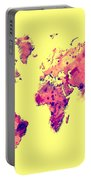 World Map 1t Portable Battery Charger