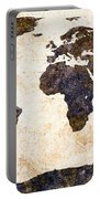 World Map Abstract Portable Battery Charger by Bob Orsillo