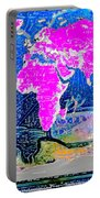 World Map And Aphrodite Portable Battery Charger