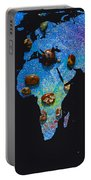 World Map And Sagittarius Constellation Portable Battery Charger