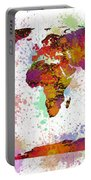 World Map Digital Watercolor Painting Portable Battery Charger