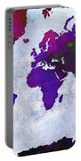 World Map - Purple Flip The Light Of Day - Abstract - Digital Painting 2 Portable Battery Charger