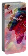 World Map Splash Of Color Portable Battery Charger