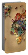 World Map Watercolor Painting 1 Portable Battery Charger