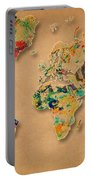 World Map Watercolor Painting 2 Portable Battery Charger
