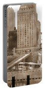World Trade Center Reconstruction Vintage Portable Battery Charger