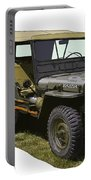 World War Two Army Jeep With Trailer  Portable Battery Charger