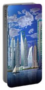 Worlds Tallest Buildings Portable Battery Charger by Garry Walton