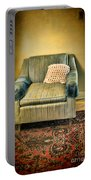 Worn Chair By Doorway Portable Battery Charger