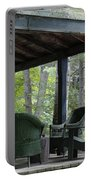 Worn Wicker Chairs On Old Veranda Portable Battery Charger