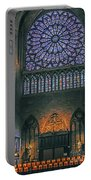 Worship In Notre Dame Portable Battery Charger