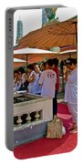 Worshippers In Front Of The Royal Temple  At Grand Palace Of Tha Portable Battery Charger