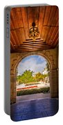 Worth Avenue Courtyard Portable Battery Charger by Debra and Dave Vanderlaan