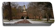 Wren Building In Snow Portable Battery Charger