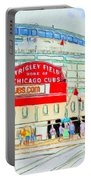 Wrigley Field Sketch Portable Battery Charger