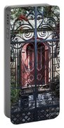 Wrought Iron Gate And Red Door Charleston South Carolina Portable Battery Charger