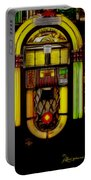 Wurlitzer 1946 Jukebox - Featured In Comfortable Art Group Portable Battery Charger