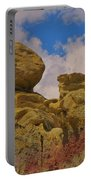 Wyoming Badlands Rock Detail Two Portable Battery Charger