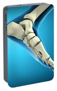 X-ray View Of Bones In Human Foot Portable Battery Charger