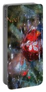 Xmas Ornament Noel Photo Art 01 Portable Battery Charger