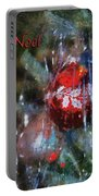 Xmas Ornament Noel Photo Art 02 Portable Battery Charger