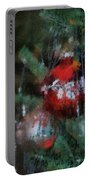 Xmas Red Ornament Photo Art 03 Portable Battery Charger