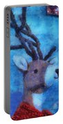 Xmas Reindeer 01 Photo Art Portable Battery Charger