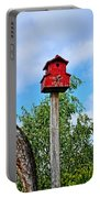 Yachats Red Birdhouse Portable Battery Charger