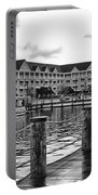 Yacht And Beach Club After The Rain In Black And White Walt Disney World Portable Battery Charger