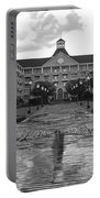 Yacht And Beach Club In Black And White Walt Disney World Portable Battery Charger
