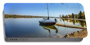 Yacht At The Little Manitou Lake Portable Battery Charger